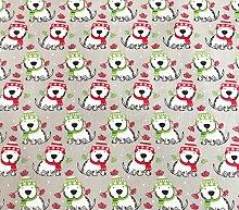 Oddies Textile Polycotton Fabric - Winter Dog