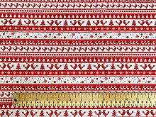 Oddies Textile Rose & Hubble Christmas Red & White
