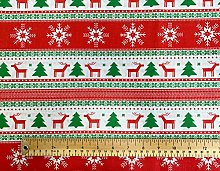 Oddies Textile Rose & Hubble Christmas Trees,
