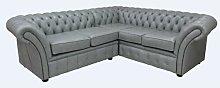 Odelia Chesterfield Balmora Leather Corner Sofa