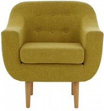 Odensa Fabric Armchair In Yellow