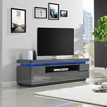Odessa 5 Drawer Lowboard Tv Stand In High Gloss