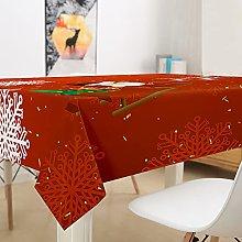 Oduo 3D Rectangular Tablecloth Waterproof,