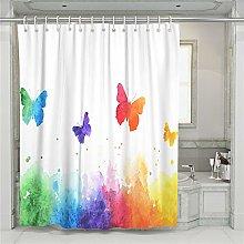 Oduo Shower Curtain Waterproof, Butterfly Plants