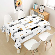 Oduo Tablecloth Waterproof Polyester Rectangle,