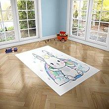 Oedim Children's Rabbit Rug for Rooms PVC | 95