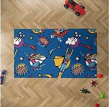 Oedim Children's Superhero Comic Rug for Rooms