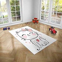 Oedim PVC Children's Cat Rug for Rooms | 95 x