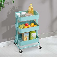 OFCASA 3-Tier Kitchen Trolley Rolling Cart Storage