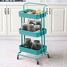 OFCASA Storage Rolling Cart 3-Tier Kitchen Trolley