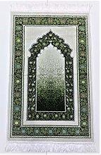 OFF WHITE/GREEN Beautiful Turkish Prayer Mat