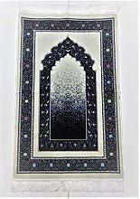 OFF WHITE/NAVY Beautiful Turkish Prayer Mat