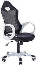 Office Chair Ergonomic Black Mesh White Arms Tilt