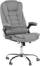 Office Chair Grey Fabric Swivel Adjustable Height