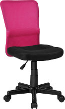 Office chair Patrick - black/pink