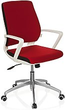 Office Chair/Swivel Chair ESTRA Red hjh OFFICE