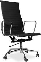 Office Chair T9 - Premium Leather - Wheels Black