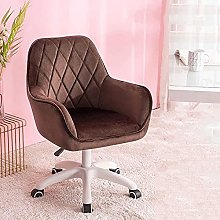 Office Chair Velvet,Mid Back Computer Chair with