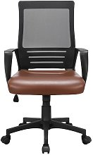 Office Chair with Leather Padded Seat and Mesh