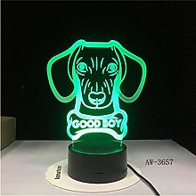Office Decor 3D lamp 3D Illusion lamp 3D Dog with