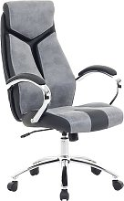 Office Desk Chair Grey and Black Faux Leather
