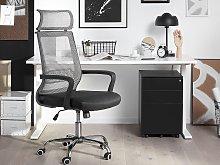 Office Desk Chair Grey Mesh Back Swivel Gas Lift
