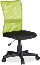 Office Desk Chair, Height-Adjustable Kids Swivel