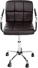 Office Desk Chair PU Leather Cushioned Swivel Gas