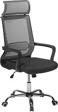 Office Desk Chair Swivel Faux Leather Seat Mesh