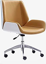 Office Desk Chair With Cipri Leather Upholstery,