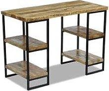 Office Desk Mango Wood 110x50x76 cm - Brown -