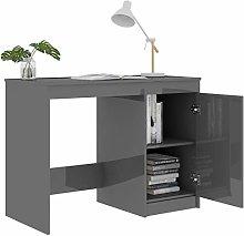 Office Desk/Modern Desk High Gloss Grey 100x50x76