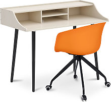 Office Desk Table Wooden Design Scandinavian Style