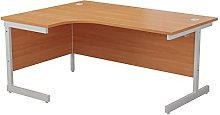 Office Essentials Ideal Left Corner Desk, Beech,