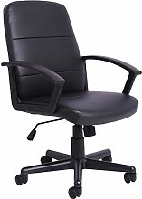 Office Essentials Leather Office Chair with Arms,