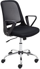 Office Hippo Desk Chair With Folding Arms, Mesh,