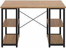 Office Hippo Desk with Shelves, Study Desk for