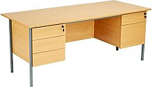 Office Hippo Eco 18 Desk with Double Pedestals Two