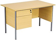 Office Hippo Eco 18 Desk with Two Drawer Pedestal,