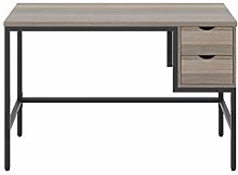 Office Hippo Grey Oak Desk with Drawers, Office