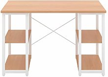 Office Hippo Home Office Desk with Shelves, Small