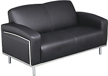 Office Hippo Moonstone sofa, bonded leather with a