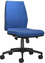 Office Hippo Sicily Mid Back Desk Chair, Fabric,
