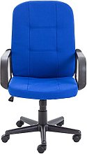 Office Hippo Start Desk Chair, Fabric, Royal Blue,