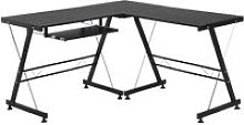 Office Home Gaming Desk Table L Shape Straight