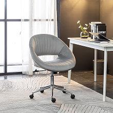 Office Luxury Velvet 360°Swivel Rocking Chair