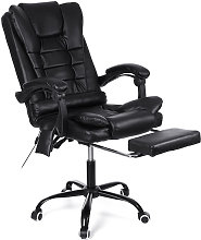 Office Massage Chair PU Leather Black