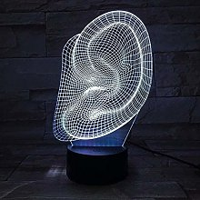 Office table accessories Creative ear 3D night