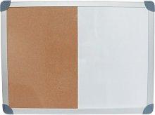 Offis Combination Drywipe/Cork Board 900X600MM Alu Frame