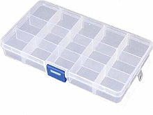 Ogquaton 15 Grid Transparent Storage Box Jewelry